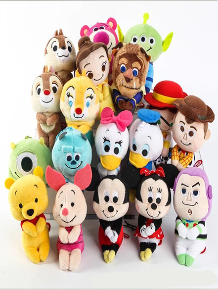 fab80eb5a048 Mickey Minnie hairy Disney dolls Winnie the Pooh row seated series Plush  stuffed Toys for children gift Baby   Toddler Toys