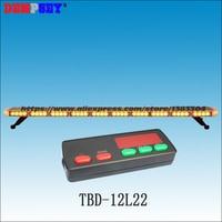 Free shipping!High quality TBD 12L22 LED lightbar,super bright amber emergency construction light,Car Roof strobe warning light