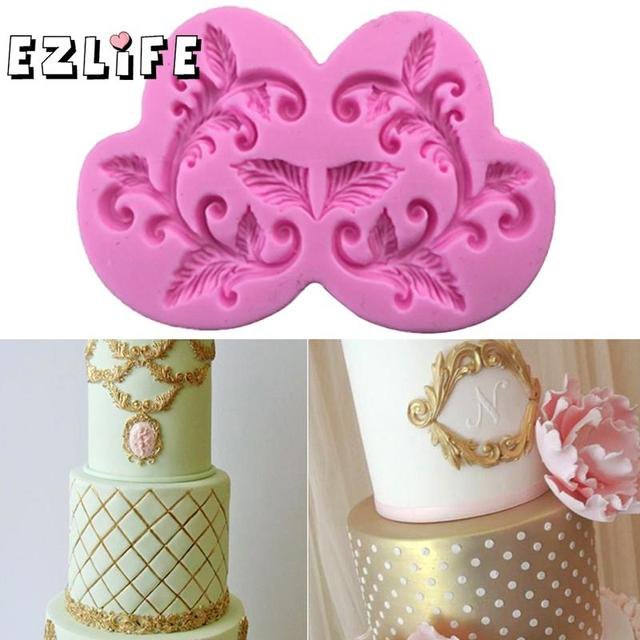 DIY Baking Pastry Tools Flower Lace Silicone Cake Mold Sugar Silicone Cake Decorating Fondant Mould Kitchen Accessories GF155