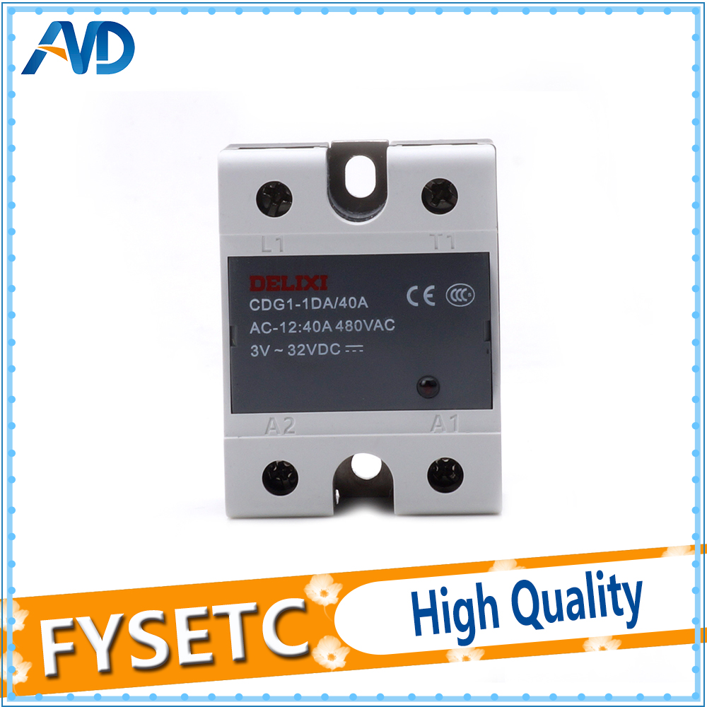 1PC Relay For Delixi Relais Delixi Solid State Relay Single Phase DC Control AC CDG1-1DA 40A D4840 SSR-DA40