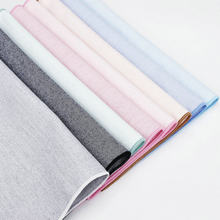 High Quality 100% Cotton Classic Suits Solid Pocket Square 25cm*25cm Men's Handkerchiefs Chest Towel Ladies Blue Pink Hanky Gift(China)