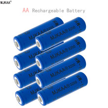 8pcs a lot Ni-MH 3200mAh AA Batteries 1.2V AA Rechargeable Battery NI-MH battery for Remote control Toys LED lights
