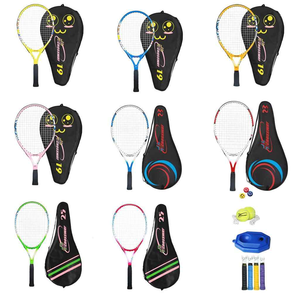 19 21 23 25 Inch Children's Tennis Racket Set With Composite Shock Absorber Handle Rope Tennis For Different Ages Portable