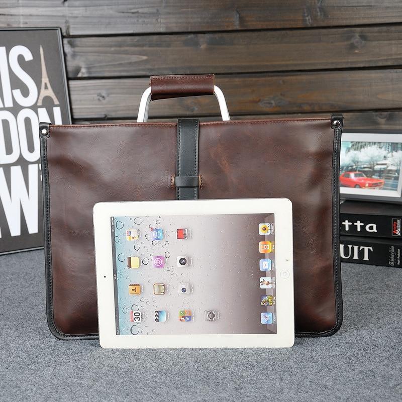 HTB1lbLyaoLrK1Rjy0Fjq6zYXFXa9 2019 Designer Men's Briefcase Vintage Shoulder Bags Crazy Horse Leather Crossbody bags Business Laptop Handbag Men travel bags