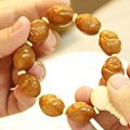 The boy Maitreya Olive Nut Seed Carved Hand Carved worry beads charm bracelet Tibetan Buddhism