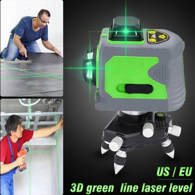 12 Line 3D Infrared Ray Waterproof Self-Leveling Pivoting Base with Green Beam LO8812 Line 3D Infrared Ray Waterproof Self-Leveling Pivoting Base with Green Beam LO88