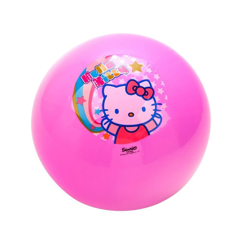 Hello kitty PVC 23cm balls Beach Ball Baby Inflation Basketball Sport Indoor Outdoor Kids Outdoor Fun Sports balls
