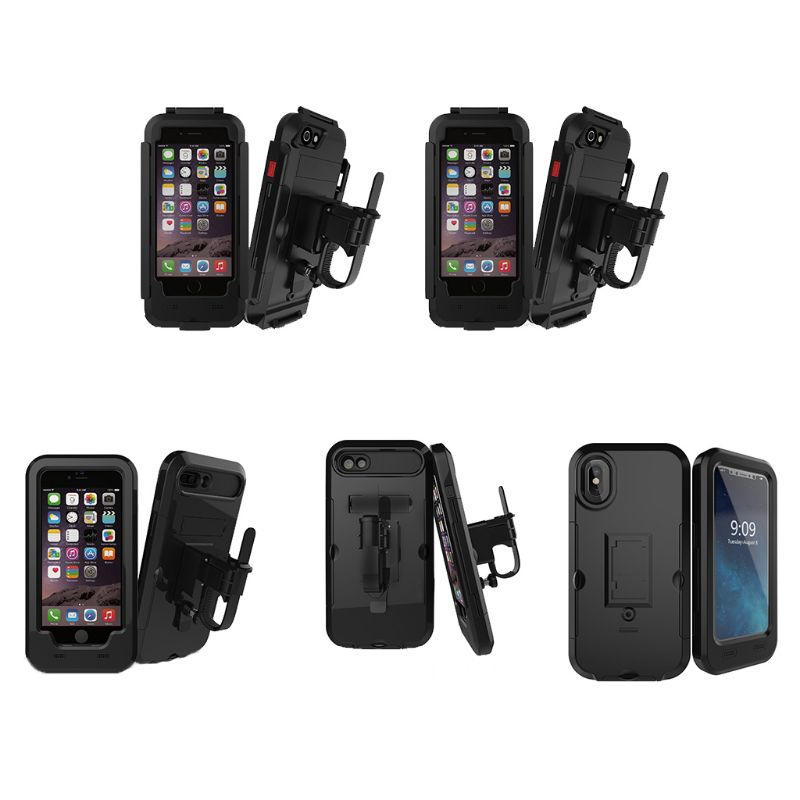 Motorcycle Bicycle Phone Holder Bag for iphone X 8 7 6 Plus Waterproof Case Mobile Support Bike Handlebar Holder Stand in Covers Ornamental Mouldings from Automobiles Motorcycles