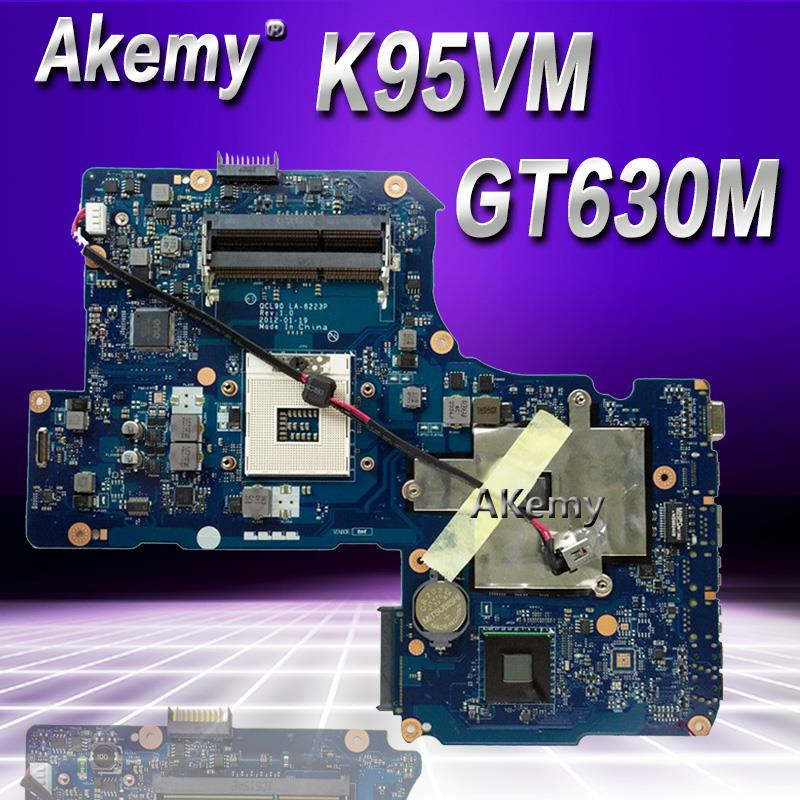 Akemy QCL90 LA-8223P REV:1.0 Laptop motherboard for ASUS K95VJ K95VM K95V K95 Test original mainboard GT630MAkemy QCL90 LA-8223P REV:1.0 Laptop motherboard for ASUS K95VJ K95VM K95V K95 Test original mainboard GT630M