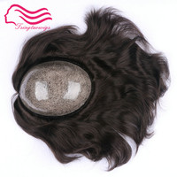 Free shipping European hair silicon injection toupee , men wig , hair pieces , size 7x9 inject Silicon toupee color 1b ,#2 #3