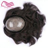 Free shipping European hair silicon injection toupee , men wig , hair pieces , size 7x9 inject Silicon toupee color 1b ,#2 #3