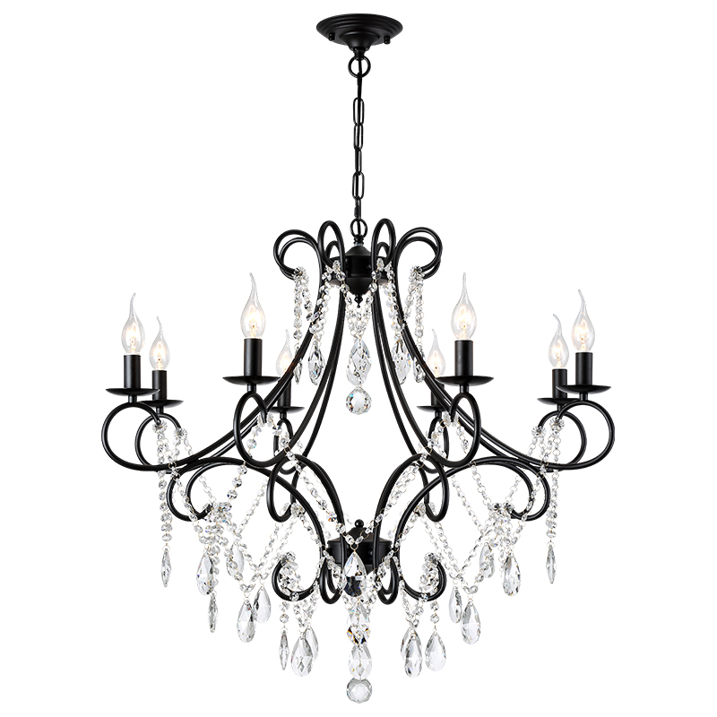 Здесь можно купить  OPKMB American Crystal Chandelier Lighting Living Room Vintage Crystal Light Bedroom  Decoration Drop Light Fixture   Свет и освещение