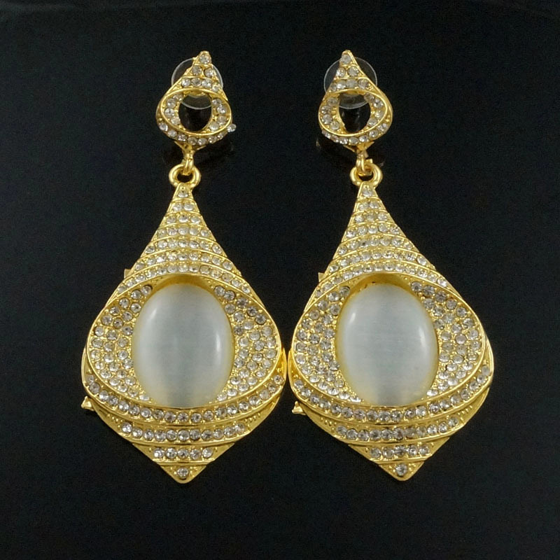sex mama drop earrings wedding earrings gift gold Rhinestone big stone earrings crystal earrings wholesale price