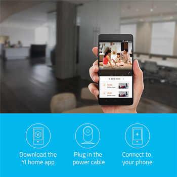 YI Home Camera 720P 2pc Night Vision WIFI Cam IP/Wireless Network Security Surveillance Camera Owl Internation Version YI Cloud