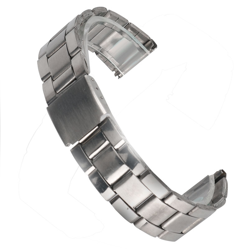 купить 20 mm Stainless Steel Silver Bracelet Women Replacement High Quality Men Solid Link Watch Band Wrist Strap + 2 Spring Bars по цене 375.35 рублей