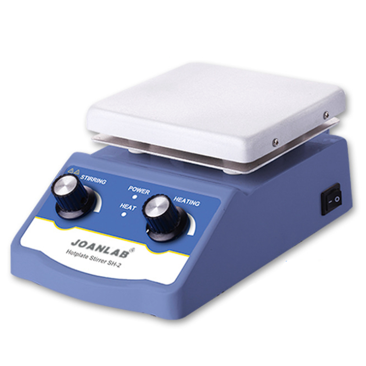 1L Heating Magnetic Stirrer 180W Magnetic Mixer With Stir Bar 1600rpm Max Stirring Hot Plate HS-12