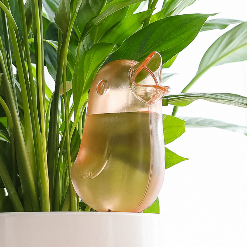 Bird Shape Lazy Watering Kettle Transparent Automatic Plant Flower Self Watering Dripper Pot Gardening Tools And Equipment