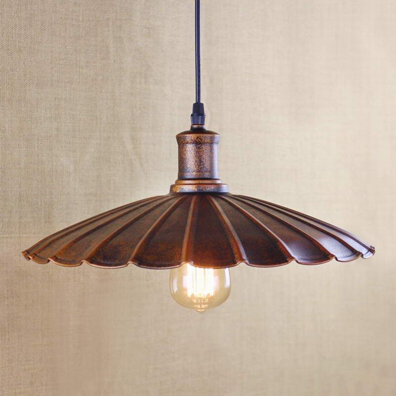 US $41.66 |Retro lampada a sospensione/Edison lampada Per Luci Della Cucina  Armadio Semplice copertura del metallo dell\'annata Soggiorno/sala da ...