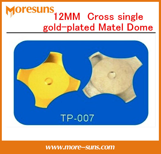 Free Ship 100pcc 12MM Cross Single Gold-plated 300G/350G/380G Matel Dome,conductive Switching Element Metal Dome Accessories