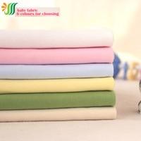 160x50 cm 1 p Coton Tricot Fine 100% Coton Biologique Tricot Tissu Matériel de Couture Bricolage Vêtements Patchwork pour Bébé Coton Tricot