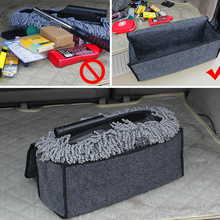 Car Trunk Organizer Storage Bag Foldable Felt Auto Car Boot Organizer Storage Box Travel Luggage Tools Tidy Car Styling Gray