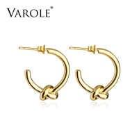 VAROLE Großhandel Klassische Knoten Ohrringe Runde Gold Farbe Stud Ohrringe Für Frauen Schmuck Ohrringe Ohrringe Ohrring Brincos