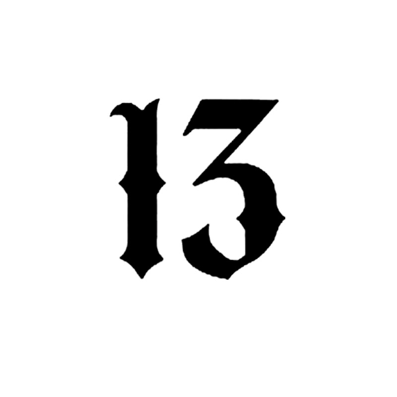 aliexpress com   buy for lucky number 13 vinyl car window interesting car styling decal