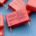 Mkp-10 WIMA 0.1 uF 630 V Capacitor de polipropileno