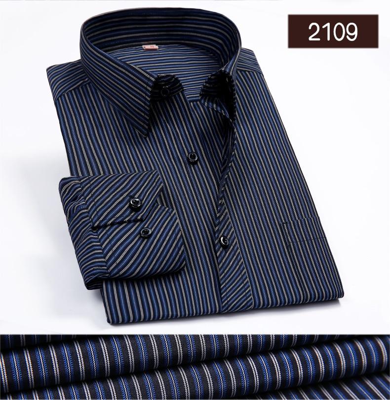 Camisa não-ferro tamanho regular masculina, manga longa