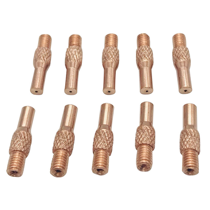 10pcs Welding Gun Contact Tips 0.8mm For MIG Spool Gun Push Pull Feeder Torch
