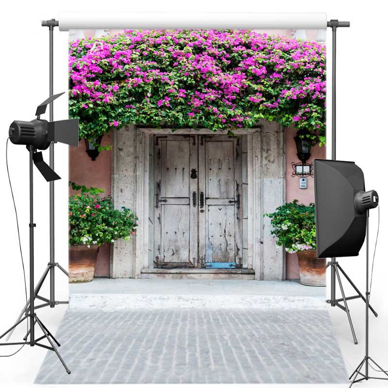 Floral Door Vinyl Photography Background Brick Ground New Fabric Flannel Backdrops for Wedding photo studio Customize S2021 shengyongbao 300cm 200cm vinyl custom photography backdrops brick wall theme photo studio props photography background brw 12