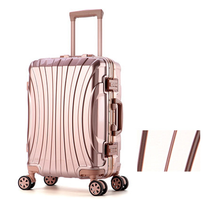 20242628 Aluminum frame Luggage New Travel Suitcase with Spinner Rolling Trolley Case Carry-On with wheel PC Hard shell Box 20242628 aluminum frame luggage new travel suitcase with spinner rolling trolley case carry on with wheel pc hard shell box