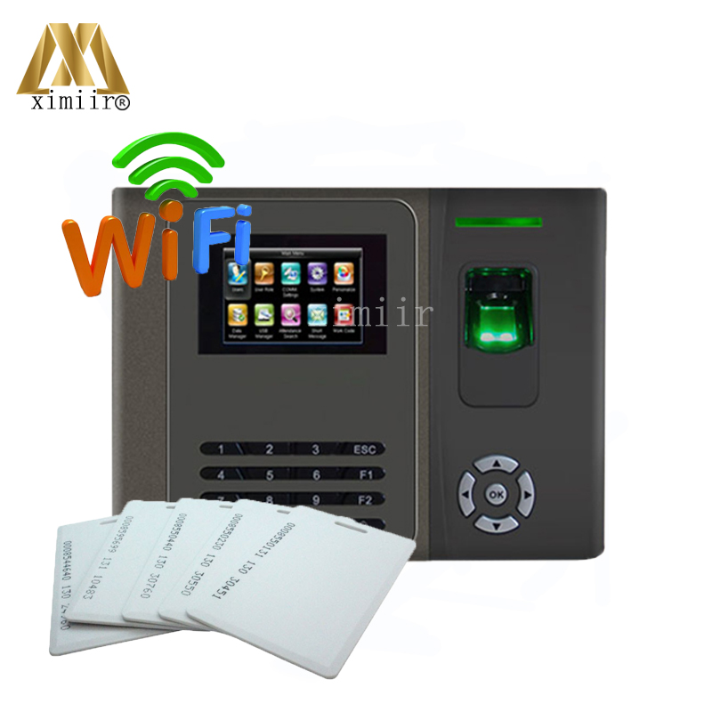 125KHz RFID Card Biometric Fingerprint Time Attendance XM200 With WiFi Good Quality Time Recording