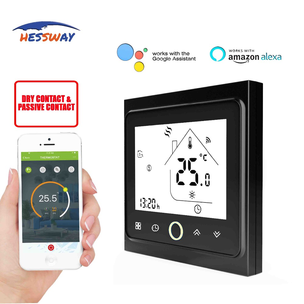 HESSWAY APP 14 languages 3A room radiator gas boiler heating thermostat WIFI switch Dry contact for TUYA Smart WIFI chip