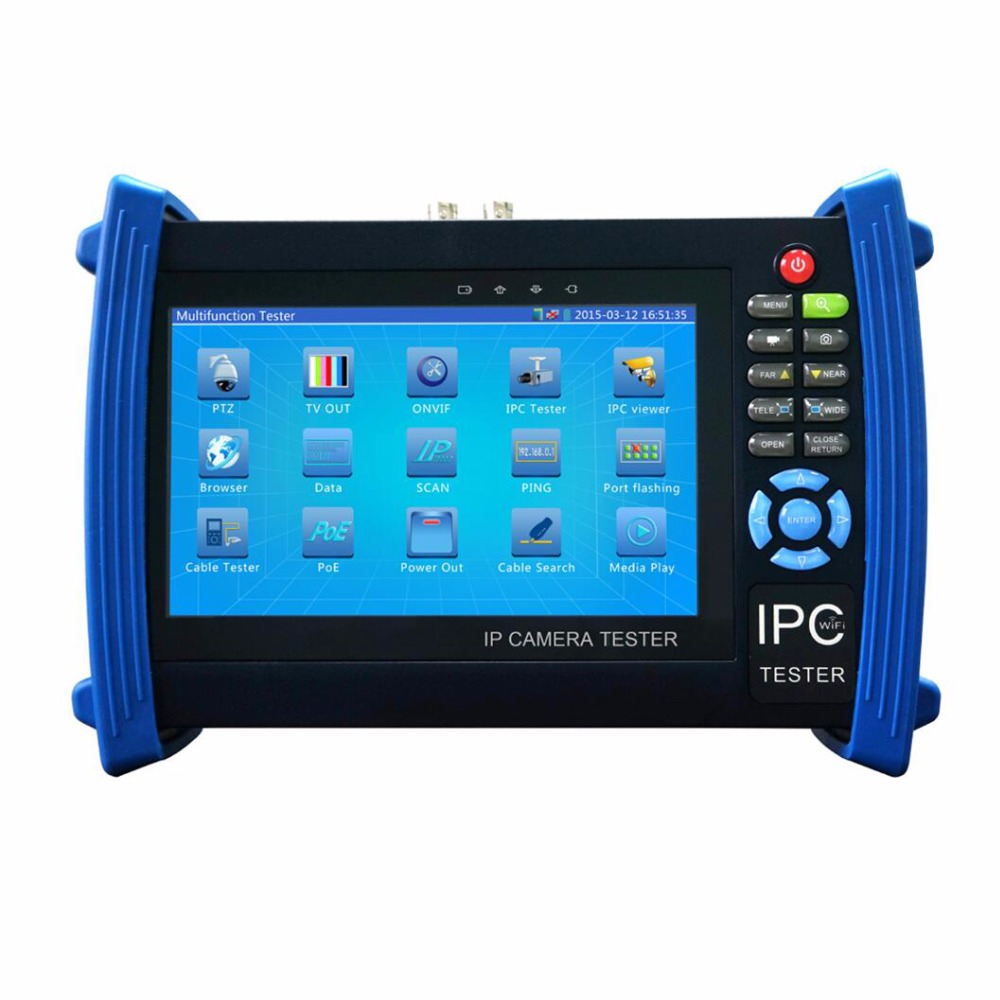 7Inch Touch Screen CCTV Tester 1080P Ip camera tester Powr bank/POE/WIFI/Analog