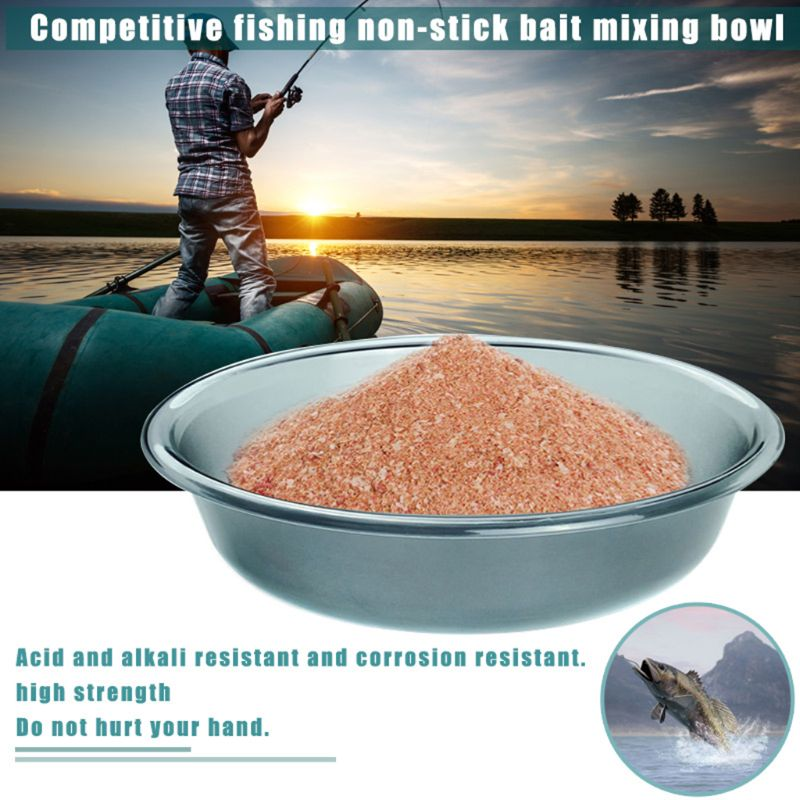 Safety Fishing Gear Lure Fish Food Non-stick Pot Bait Mixing Bowl Pots Fishing Accessories Tools G6KF(China)