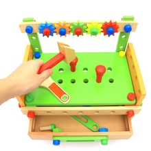 Montessori DiY wooden screw math toy for kids 3 year old removable assembling tool table learning Educational toys