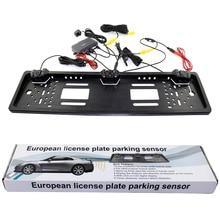 Автомобильная система заднего вида Европейский номерной знак Видео парковочный датчик реверсивный радар с HD камера заднего вида без отверстий