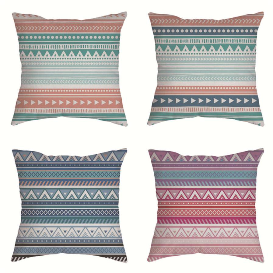Cotton Linen Vintage geometric Pillow Case 45X45 pillow cover Sofa Waist Throw Cushion Cover Home decorative pillowcase cojin