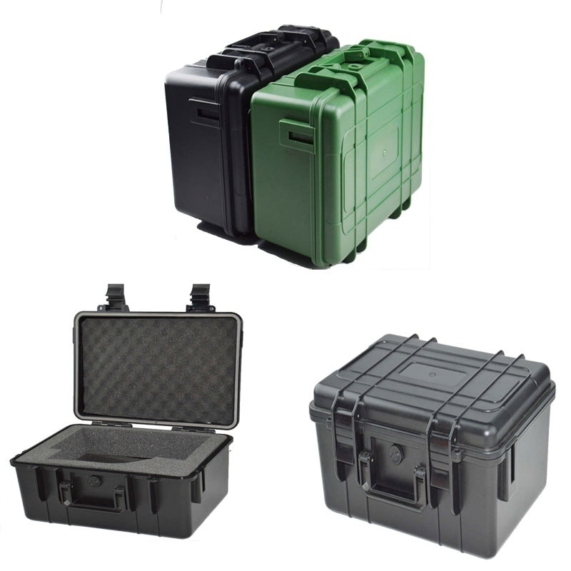 ABS Hard Plastic Tactical Box Waterproof Tool Case Airtight Shockproof Outdoor Survial Suitcase Toolbox Safety Box