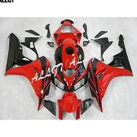 Black on Red Motorcycle ABS Injection Fairing Plastic Kits for Honda CBR1000RR 2006 2007 CBR1000 RR 06 07