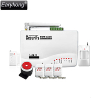 GSM01 Wireless Wired Phone SIM GSM Home Burglar Security GSM Alarm System English Russian Spansih Voice