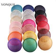 2020 מרובה צבע 13CM עגול SINAMAY Fascinator בסיס עבור כיסוי ראש חדש DIY נשים אדום מסיבת Fascinator כובע 12 יח\חבילה סיטונאי