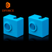 DFORCE Super high quality cartridge heater bock silicone socks  for MK9 heated block hotend I3 CR10 nozzle
