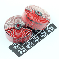 Fouriers Road Bike Handlebar Tape Bicycle Cycling Handle Belt Material PU leather anti skid wear resistant and sweat absorbing