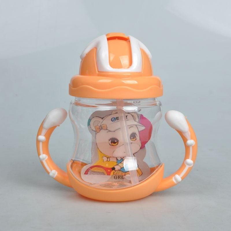320ml Newborn Bottle Kids Cup Silicone Sippy Children