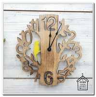 zakka pastoral silence tree wood hanging watches creative fashion living room bedroom children's room wall clock hanging table