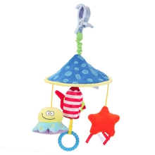 Baby Toys Rattles Toy Kids Soft Cartoon Plush Toy Animal Clip Baby Crib Bed Hanging Bells Toys for Stroller