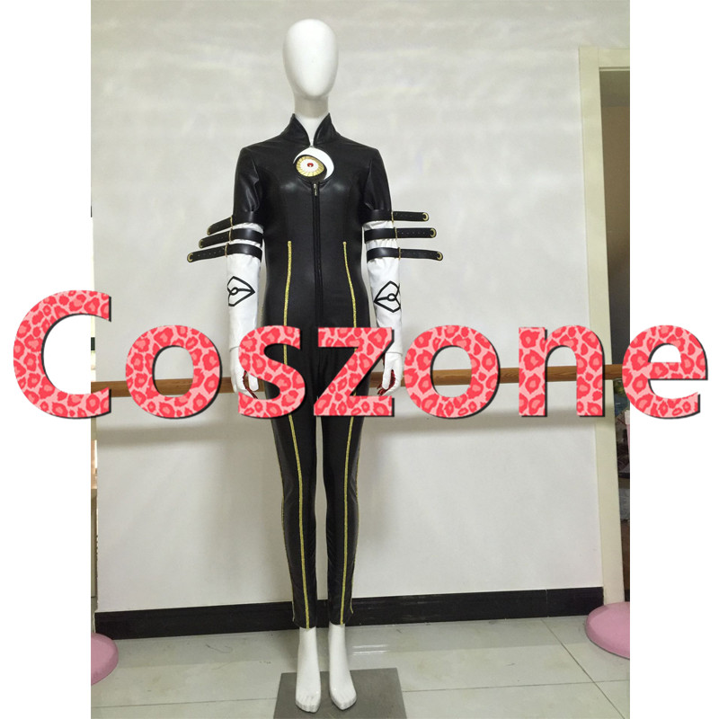 Bayonetta PU leather Cosplay Costume Jumpsuit Adult Halloween Carnival Party Costume Custom