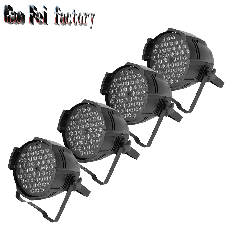 4pcs/lot High Quality constant current 54*3W RGBW Waterproof Aluminum PAR Lights4pcs/lot High Quality constant current 54*3W RGBW Waterproof Aluminum PAR Lights